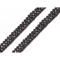 Bortni 0,9 cm széles fekete