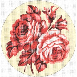 Gobelin 15x15 cm 975 Rózsa