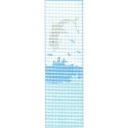 Gobelin 6x20 cm WE19 Könyvjelző Delfin