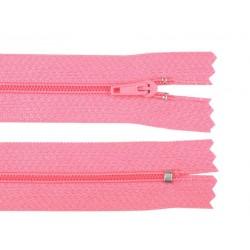 Cipzár 30 cm műanyag rózsaszín