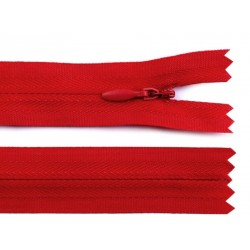 Cipzár 20 cm rejtett piros