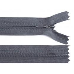 Cipzár 20 cm rejtett sötétszürke