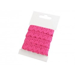 Pamut vert csipke 1,5 cm pink 3 m/csomag