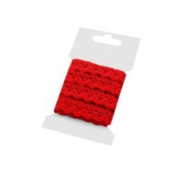 Pamut vert csipke 1,5 cm piros 3 m/csomag
