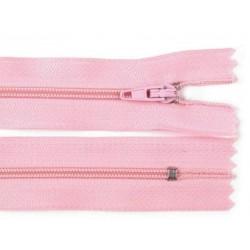 Cipzár 20 cm műanyag rózsaszín