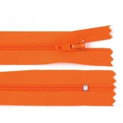 Cipzár 20 cm műanyag narancssárga
