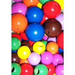 Fagolyó 2 cm színes