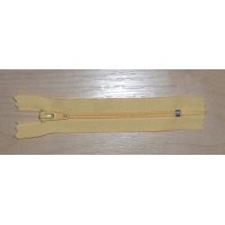 Cipzár 10 cm műanyag sárga