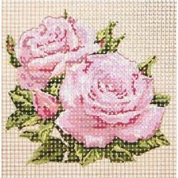 Gobelin 10x10 cm V057 Rózsa