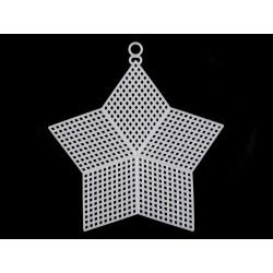 Műanyag hímezhető csillag akasztóval