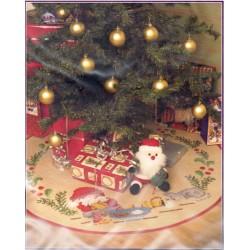 Karácsonyfatalp takaró 98 cm 09540 Fa szoknya