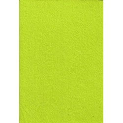 Filc 2-2,5 mm 20x30 cm sárgászöld