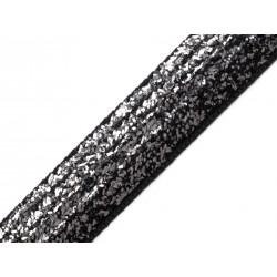 Bársonyszalag lurexszel 1,3 cm fekete