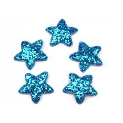 Dekoráció csillag 3,5 cm kék