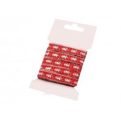 Karácsonyi szalag kártyán 5 m piros