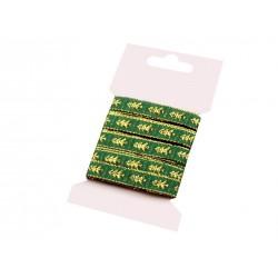 Karácsonyi szalag kártyán 5 m zöld