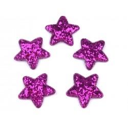 Dekoráció csillag 3,5 cm lila