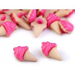 Babagomb 2 cm pink fagyi