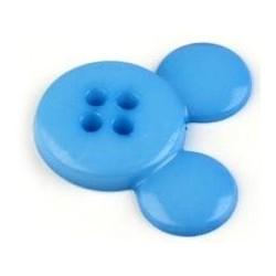 Babagomb 2 cm kék egérfej