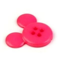 Babagomb 2 cm pink egérfej