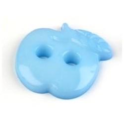 Babagomb 1,8x1,8 cm kék alma
