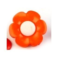 Babagomb 1,7 cm narancssárga virág
