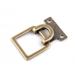 Díszcsat 2,5x4 cm bronzszinű
