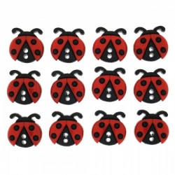 Dress It Up gombszett Sew Cute Ladybugs