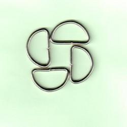 D-karika 1,5x2,5 cm ezüstszínű