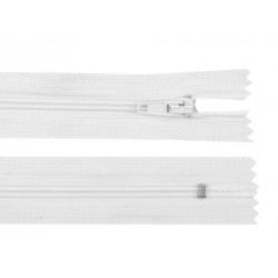 Cipzár 30 cm műanyag fehér