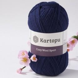 Cozy Wool Sport sötétkék 100 g