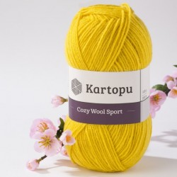 Cozy Wool Sport sárga 100 g