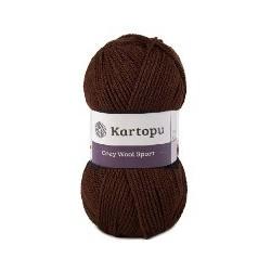 Cozy Wool Sport sötétbarna 100 g