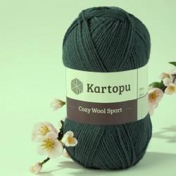 Cozy Wool Sport sötétkhaki 100 g