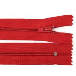 Cipzár 18 cm műanyag piros