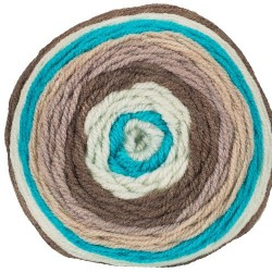 Jersey barna/fehér/türkiz/drapp 200 g