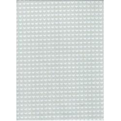Filc 1,5 mm 20x30 cm szürke szíves