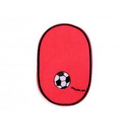 Vasalható farmerfolt piros focis