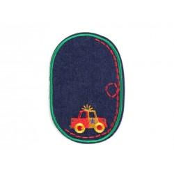 Vasalható farmerfolt zöld rendőrautós
