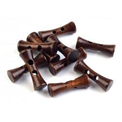 Gomb hosszúkás fa 3,5 cm dió