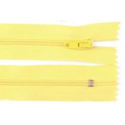 Cipzár 18 cm műanyag sárga