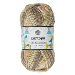 Baby Natural Prints khaki/narancs 100 g