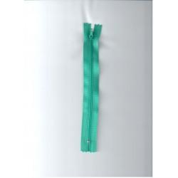 Cipzár 18 cm műanyag türkiz zöld