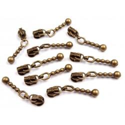 Cipzárkocsi spirálcipzárhoz 3 mm bronz