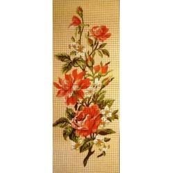 Gobelin 15x38 cm 616 Rózsacsokor