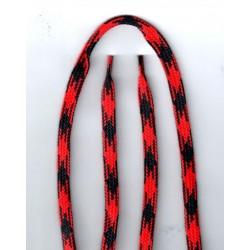 Cipőfűző mintás sport 120 cm piros/fekete
