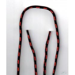 Cipőfűző bakancsba mitás 85cm fekete/narancssárga