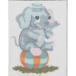 Gobelin 14x18 cm 3199 Elefánt