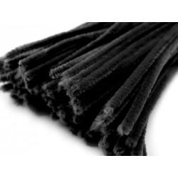 Zsenília drót 0,6 cm fekete