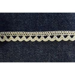 Pamutcsipke 0,9 cm ezüst hullámos szélcsipke